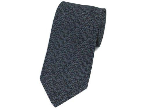 (エルメス) HERMES ネクタイ 659054T メンズ ジャガード デザイン ブラック/グレー 27557 [並行輸入品]