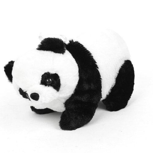 Black White Plush Cute Panda Design Kids Toy Hanging Decor For Car