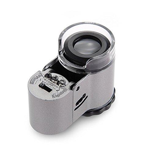Mini Leds Microscope Endoscope Jeweler Loupe 50X Jewelry Currency Detector