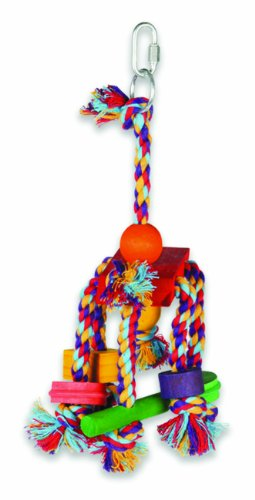 Cheap Multi Pet Fiesta Medium Cotton Rope and Wood Bird Toy 10 in (B000BF5GN0)