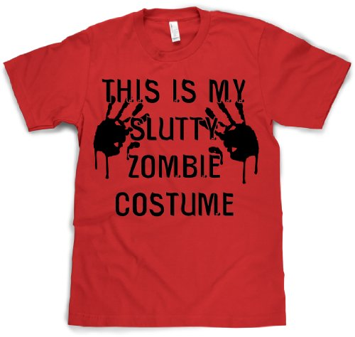 This is my Slutty Zombie Costume T Shirt Halloween Costume Tee