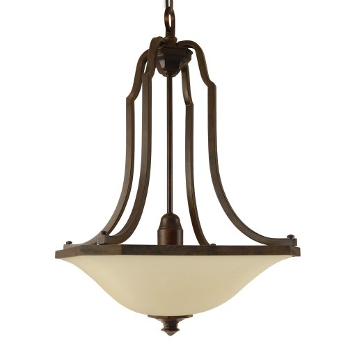 Good Earth Lighting G4697-BZ-I Metropolitan 25-1/4-Inch Pendant Light with One 27-Watt GU24 bulb, Antique Bronze