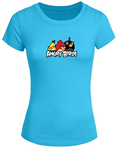 Angry-Birds-For-2016-Womens-Printed-Short-Sleeve-tops-t-shirts