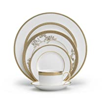 Wedgwood Vera Wang Vera Lace Gold 5-Piece Dinnerware Place Setting
