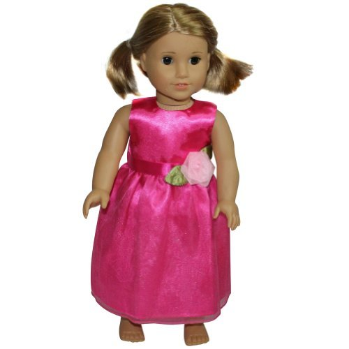 "18"" Doll Hot Pink Formal Party Dress"