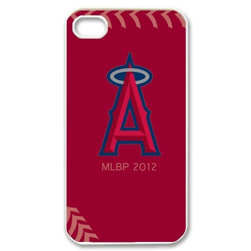 Generic Cell Phone Cases Cover For Apple Iphone 4S Case Iphone 4 Case Fashionable Designed With Baseball Team Los Angeles Angels Background Personalized Case