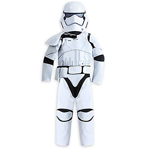 [Disney Boys Star Wars The Force Awakens Deluxe Stormtrooper Costume Size 4] (Stormtrooper Disney)