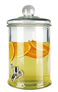 Home Basics Glass Beverage Dispenser