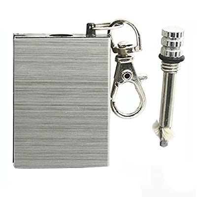 Outdoor Camping Accessory Equipment Survival Gear Tool Refillable Permanent Flint Pocket Fire Starter Square Stainless Steel Fire Striker by Gosear