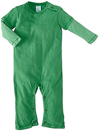 City Threads Baby Boys' 2Fer Romper (Baby) - Elf