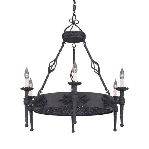 B000JZT91C Designers Fountain 9186-NI Alhambra 6-Light Island, Natural Iron