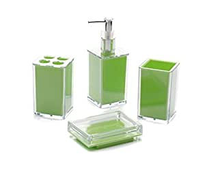4 pieces bathroom set acrylic stylish for Bathroom accessories acrylic