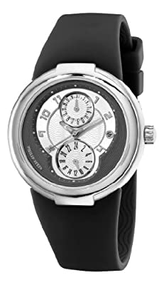 "Philip Stein Women's 31-AGRW-RBB ""Active"" Stainless Steel Watch with Black Rubber Strap"