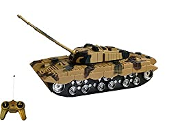 Olly Polly Kids Imported High Quality RC War Remote Control Tank Brown- Gift Toy