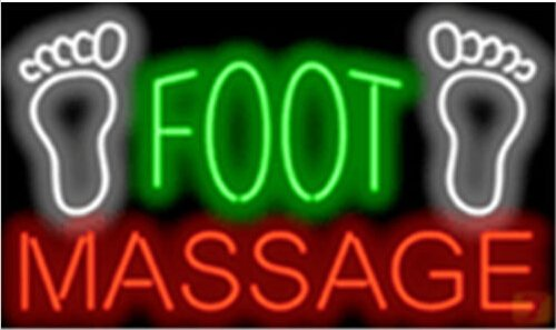 "New Foot Massage Feet Signboard Shop Neon Light Sign Display Bar Signage 17x14Neon Light Sign Display Beer Bar Pub Store Club Garrag Dealers Windows Garage Wall Sign 17w""x 14""h"