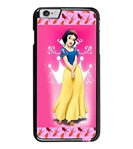 PrintDhaba Princess D-3069 Back Case Cover for APPLE IPHONE 6 (Multi-Coloured)