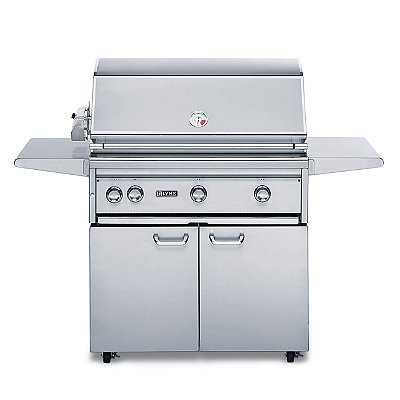 Lynx 36-inch Freestanding Grill with ProSear Burner, Brass Burners, and Rotisserie - Brown Gas - Frontgate