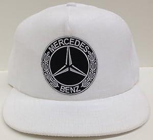 Custom white corduroy mercedes benz snapback hat cap for Mercedes benz snapback