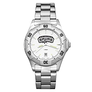 NBA San Antonio Spurs Mens All-Pro Chrome Watch by Logo Art