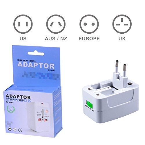 Global Universal Travel Plug Converter Adaptor Ac Power 4 International Adaptors In One