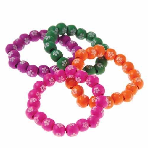 Wooden Flower Bracelets - 1