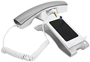 iClooly Phone Handset and Sync Stand for iPhone 4S, 4, 3GS, 3G, and Other Wireless Phones with 3.5 mm Headphone Jack