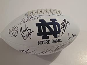 2012 Notre Dame Fighting Irish Team Signed Football Manti Te