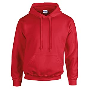 Gildan G185 Men's Heavy Blend Hooded Sweatshirt-Red-5XL