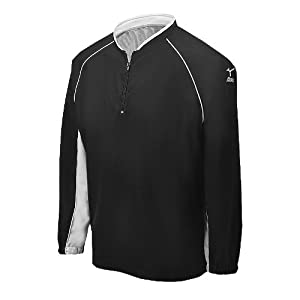 Mizuno Youth Prestige G4 Long Sleeve Batting Jersey, Black, Medium