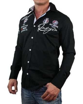 Redbridge by Cipo & Baxx Herren Hemd Shirt 8920 R-2130 langarm, weiß