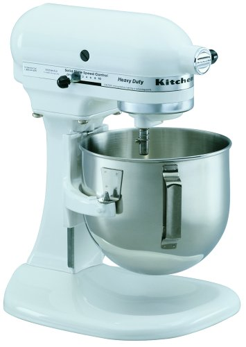 KitchenAid K5SSWH Heavy Duty Series 5-Quart Stand Mixer, White Promo Offer