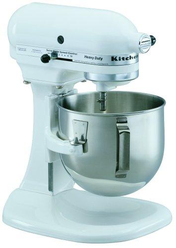 KitchenAid K5SSWH Heavy Duty Series 5-Quart Stand Mixer, White