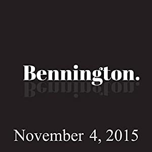 Bennington, November 4, 2015 Radio/TV Program