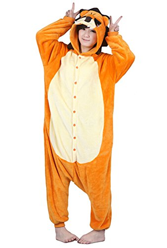 Tonwhar Unisex Adult Cartoon Lion Onesie Sleepsuit Kigurumi Halloween Costumes