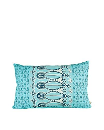 Jacque Pierro Izem Large Pillow, Turquoise/Navy Blue/White