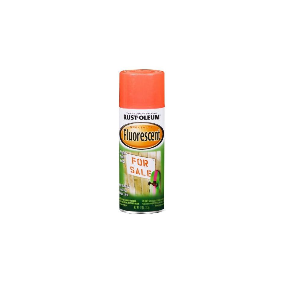 Rust Oleum 1955830 Fluorescent Spray, Fluor Red Orange, 11 Ounce