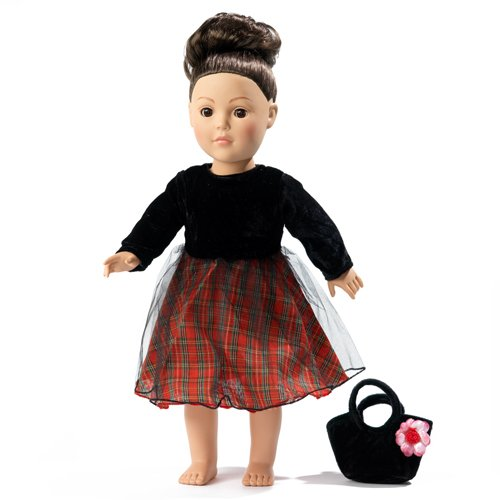18 Inch Doll Clothes/clothing Fits American Girl - Holiday/christmas Dress Outfit Includes 18
