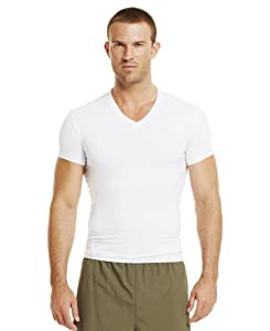 Under Armour Men's Tactical HeatGear® Compression V-Neck T-Shirt Large White