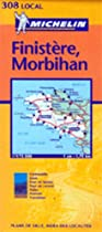 Michelin Map Number 308: Finistere, Morbihan, Quimper, Vannes (France) and Surrounding Area, Scale 1:175,000