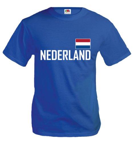 T-Shirt Niederlande-XXL-Royal-