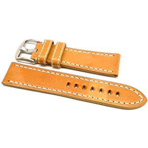 DaLuca OEM Style Leather Watch Strap - Natural : 24mm