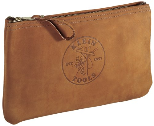 Klein 5139L 12-1/2-Inch Top-Grain Leather Zipper Bag