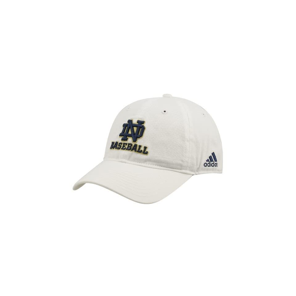 adidas Notre Dame Fighting Irish White Adjustable Baseball Hat