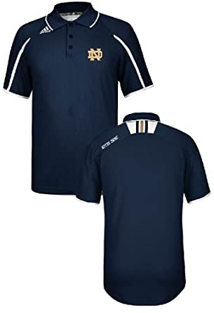 Notre Dame Fighting Irish Adidas Climalite Sideline Polo-Navy Blue by Unknown