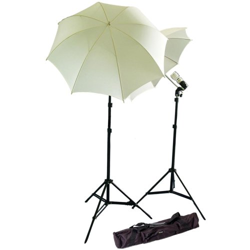 CowboyStudio Photography Studio Continuous Lighting Kit w/ Two 45w 5000k Daylight Balanced Fluorescent Photo Light Bulbs & Carry Case