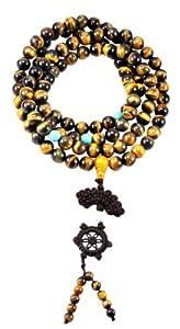 Premium Quality Tibetan 108 Genuine Tiger Eye Prayer Beads, 10mm, Tiger Eye Tibetan Mala, Tiger Eye Necklace,Tiger's Eye Necklace
