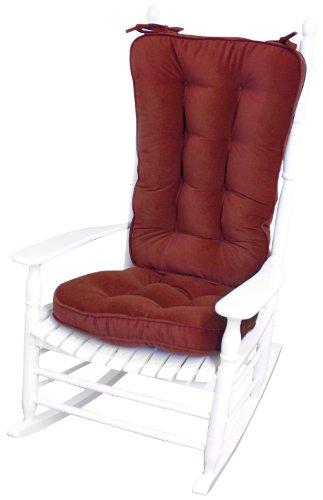 Greendale Home Fashions Jumbo Rocking Chair Cushion Set Hyatt Fabric, Scarlet