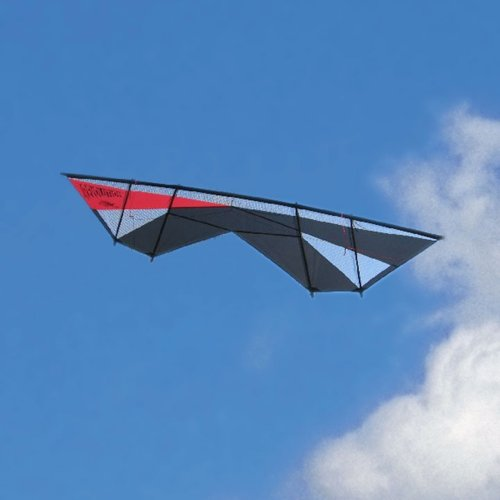 Revolution Supersonic Quad Line Stunt Kite Red Black Made in the USA