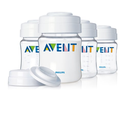Philips AVENT 4 Ounce BPA Free Breast Milk Storage Set, Clear, 4-Pack