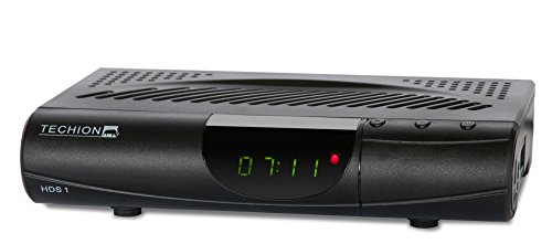 TECHION HDS1 WiFi HDTV-Satelliten-Receiver mit Mediaplayer/Internetportalfunktion inkl. WLAN-Dongle Schwarz